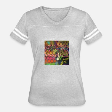 Acrylic Painting Design created using Spray Paint and then Acrylic - Women's Vintage Sport T-Shirt