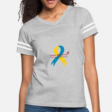 Dsam Logo with awareness ribbon - Women's Vintage Sport T-Shirt