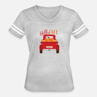 Red Truck Hello Fall - Women's Vintage Sport T-Shirt