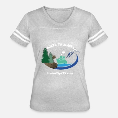 Great White North North to Alaska - White Font & Brown Moose - Women's Vintage Sport T-Shirt