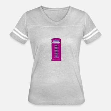 Telephone Booth phone booth purple - Women's Vintage Sport T-Shirt
