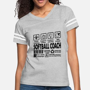 Softball Coach Softball Coach Multitasking Shirt - Women's Vintage Sport T-Shirt