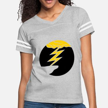 Thunderstorm cloud thunderstorm lightning storm cliff round cir - Women's Vintage Sport T-Shirt
