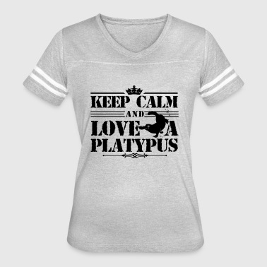 Love Platypus Clothing Keep Calm And Love A Platypus T Shirt - Women's Vintage Sport T-Shirt