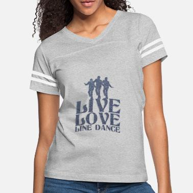 Country Live love line Dance Country Music Wild West Gift - Women's Vintage Sport T-Shirt