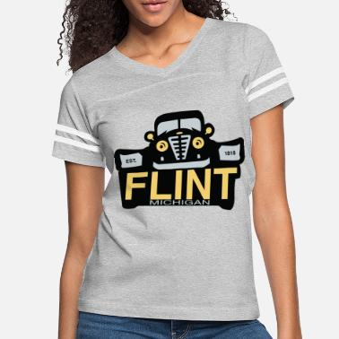 Michigan Flint Cars Michigan Classic - Women's Vintage Sport T-Shirt