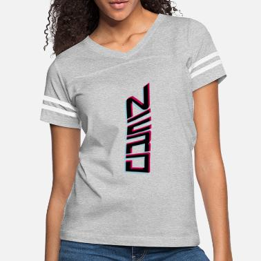 Logo vertical nerd 3d text pattern cool logo geek sly f - Women's Vintage Sport T-Shirt