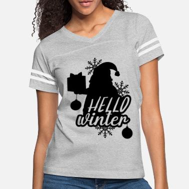 Decoration Hello Winter Santa - Women's Vintage Sport T-Shirt