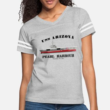 uss arizona battleship warship sailor marine 1941 - Women's Vintage Sport T-Shirt
