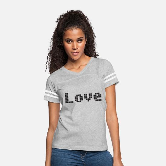 Love T-Shirts - Love Pixel - Women's Vintage Sport T-Shirt heather gray/white