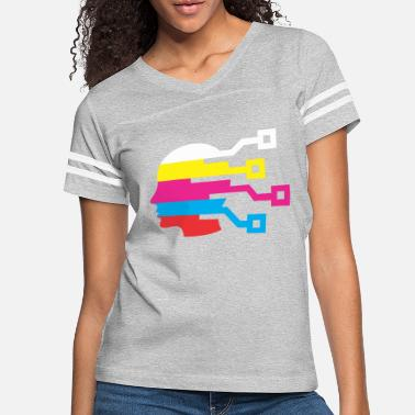 Multi Colored Multi Color - Women's Vintage Sport T-Shirt