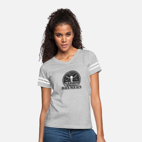 Bartender T-Shirts - Storm Brewers | Retro Beer IPA Lager Amber Stouts - Women's Vintage Sport T-Shirt heather gray/white