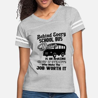 School Bus Love Women V-Neck Short Sleeve T-Shirts