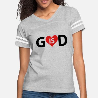 God Heart God is Love - Women's Vintage Sport T-Shirt