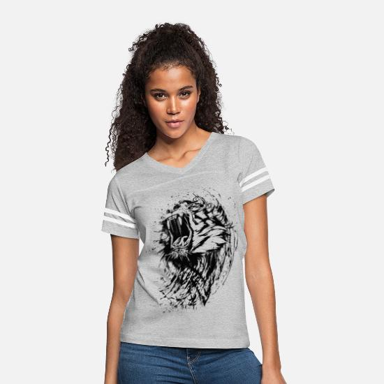 Tiger T-Shirts - Cool Beautiful Tiger - Women's Vintage Sport T-Shirt heather gray/white