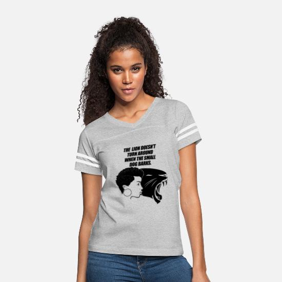 Black T-Shirts - Black Woman Black Panther Power strong Life quotes - Women's Vintage Sport T-Shirt heather gray/white
