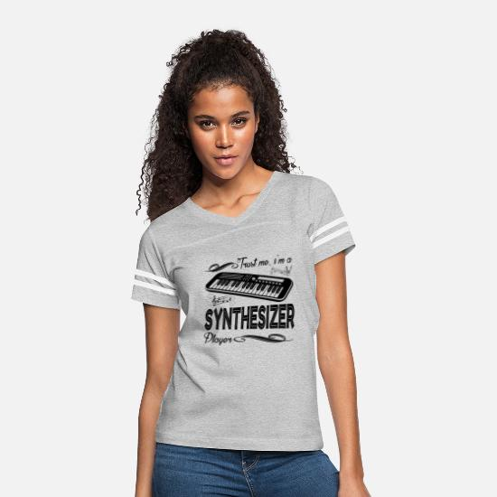 Synthesizer T-Shirts - I'm A Synthesizer Player Shirt - Women's Vintage Sport T-Shirt heather gray/white
