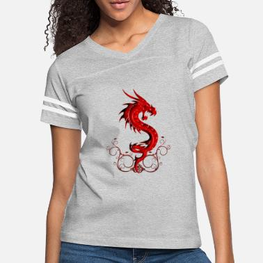 Symbols Wonderful red chinese dragon - Women's Vintage Sport T-Shirt