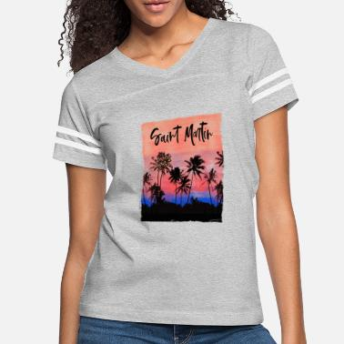 Palm Trees Christmas Tree Lights Palm Tree Beach Vacation - Women's Vintage Sport T-Shirt