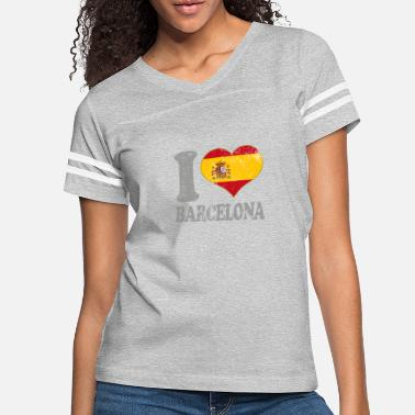 Flags Spain I Love Barcelona Spain Spanish Flag Pride Espana - Women's Vintage Sport T-Shirt
