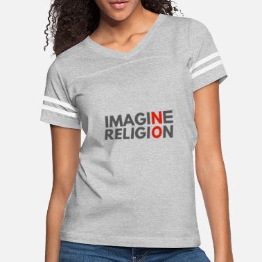 Women/'s Vintage Religious T-shirt in Grey