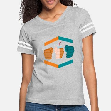 Gamebred Sticker 3 Piece And A Soda Gamebred MMA Dolphins Fighter - Women's Vintage Sport T-Shirt