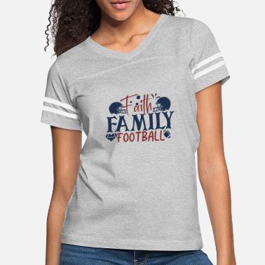 Faith family football - Women's Vintage Sport T-Shirt