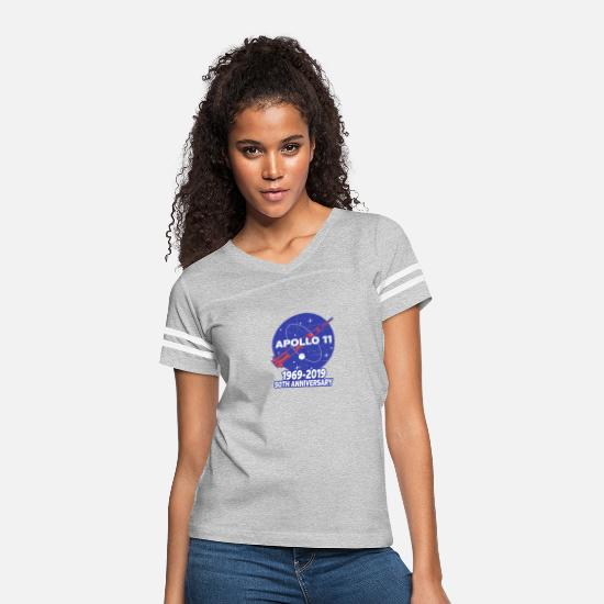 Space T-Shirts - Astronaut Moon Landing 50th - Women's Vintage Sport T-Shirt heather gray/white