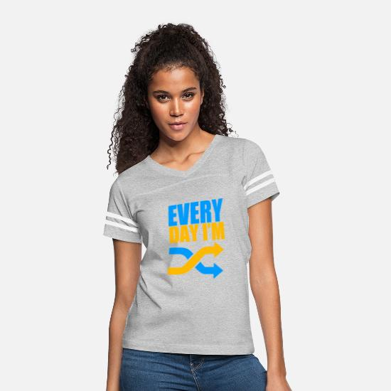 Game T-Shirts - Everyday Im Shuffling - Women's Vintage Sport T-Shirt heather gray/white