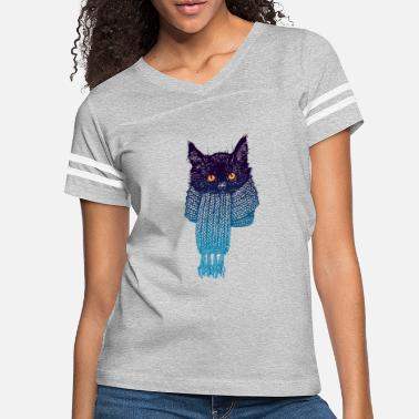 Snowflake Cat in a scarf - Women's Vintage Sport T-Shirt