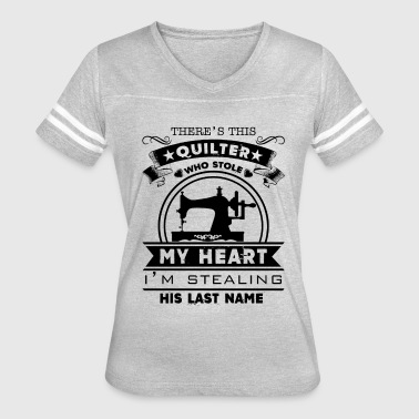 Quilter My Heart His Last Name Shirt - Women's Vintage Sport T-Shirt