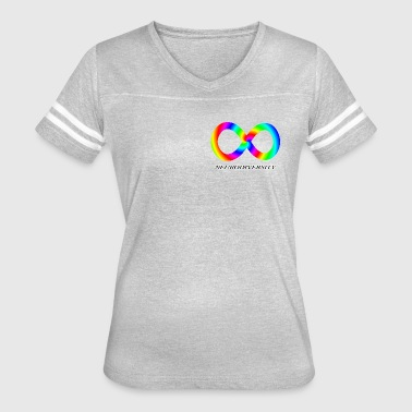 Neurodiversity with Rainbow swirl - Women's Vintage Sport T-Shirt