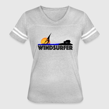 Windsurfer at Sunset - Women's Vintage Sport T-Shirt