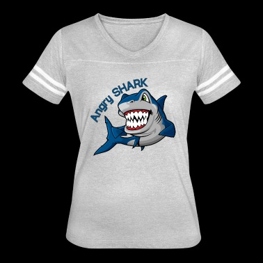 angry shark - Women's Vintage Sport T-Shirt