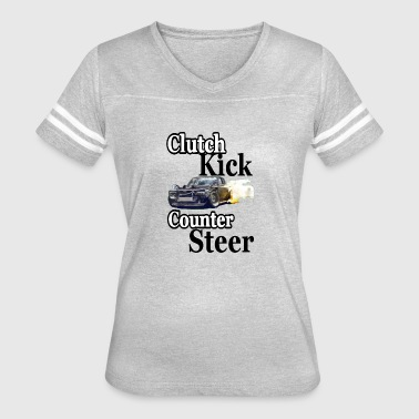 clutch kick counter steer drift - Women's Vintage Sport T-Shirt