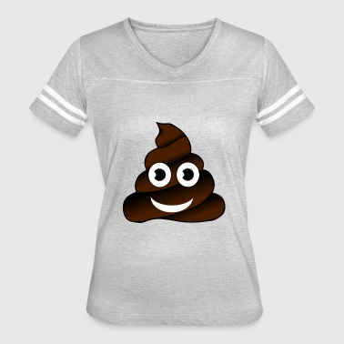 Poop Dung Shit Emoticon Smiley Gift Fart Present - Women's Vintage Sport T-Shirt