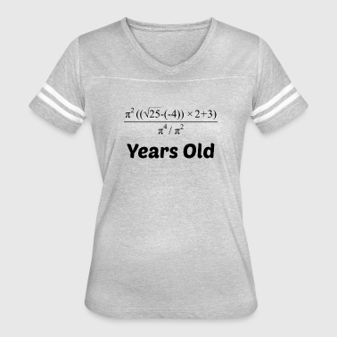 Algebra Equation 21st Birthday - Women's Vintage Sport T-Shirt