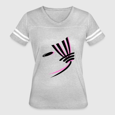 DISC GOLF LOGO PINK - Women's Vintage Sport T-Shirt