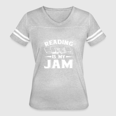 Reading Is My Jam Reading Books Funny - Women's Vintage Sport T-Shirt