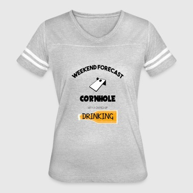 Cornhole With A Chance Of Drinking - Women's Vintage Sport T-Shirt