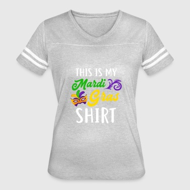 Beautiful Costume For Mardi Grass. - Women's Vintage Sport T-Shirt