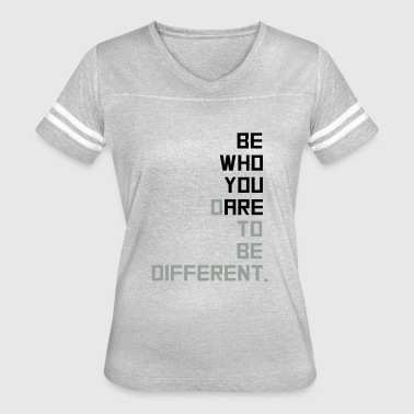 be yourself - Women's Vintage Sport T-Shirt