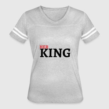Queen King Valentines Day Couple Gift - Women's Vintage Sport T-Shirt