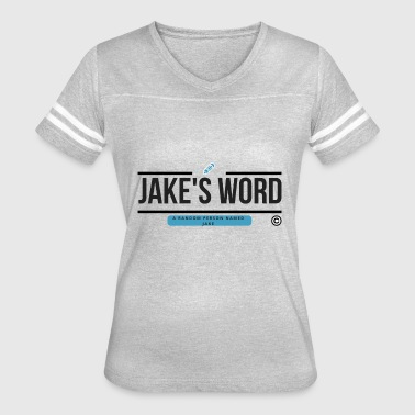 Jake's Word Logo - Women's Vintage Sport T-Shirt
