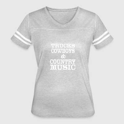Trucks Cowboys Country Music - Women's Vintage Sport T-Shirt