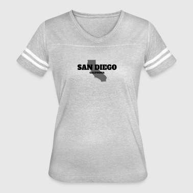 CALIFORNIA SAN DIEGO US STATE EDITION - Women's Vintage Sport T-Shirt