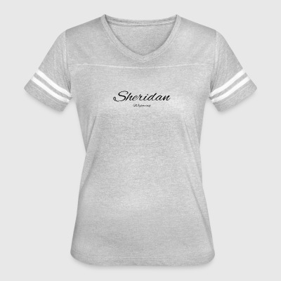 Wyoming Sheridan US DESIGN EDITION - Women's Vintage Sport T-Shirt