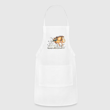 Western Horse Sliding Stop - Ride - Gift - Cartoon - Adjustable Apron