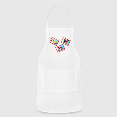stamps with toys - Adjustable Apron