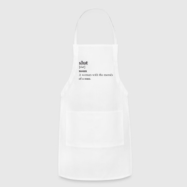 Quotes Slut Black - Adjustable Apron